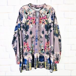 Tolani Collection Printed Woven Tunic
